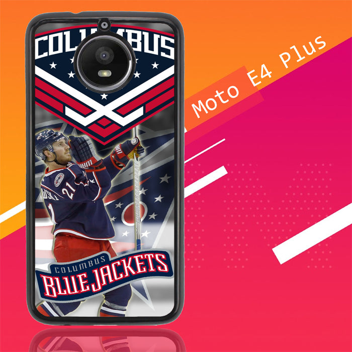 Columbus Blue Jackets W3227 Motorola Moto E4 Plus Case New Year Gifts 2020-Motorola Moto E4 Plus-Recovery Case