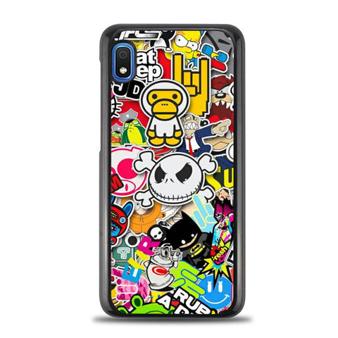 Stickerbomb Graffiti Art Collage Cool W4400 Samsung Galaxy A10E Case