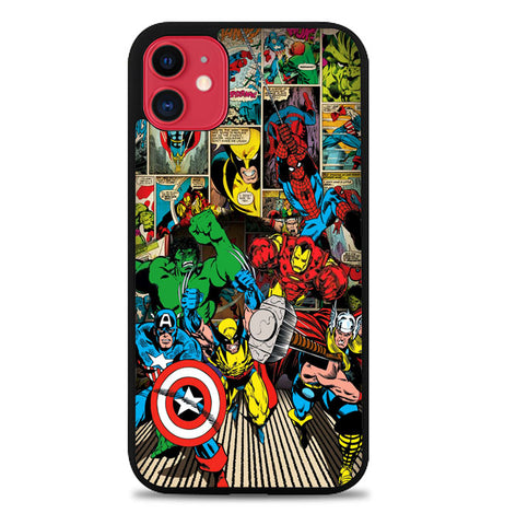 marvel comic panel Y1750 iPhone 11 Case
