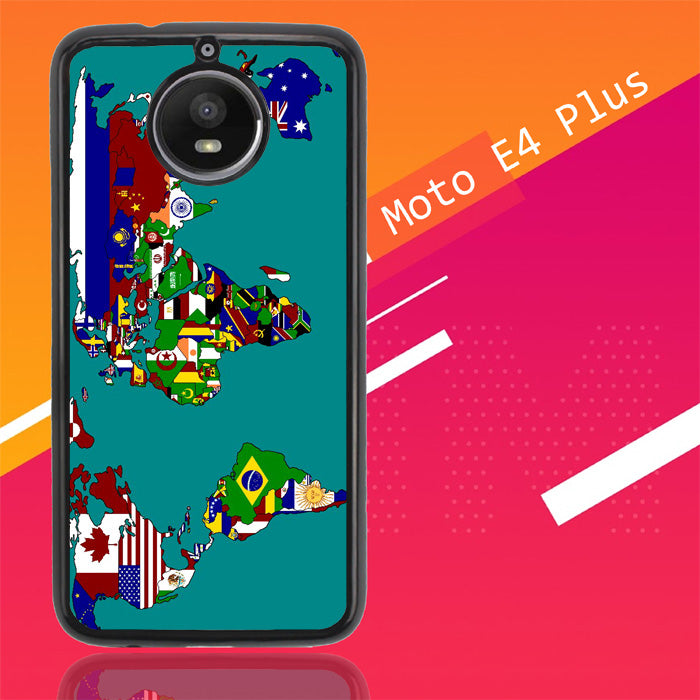 World Map Y1751 Motorola Moto E4 Plus Case Christmas Gifts | Xmas Presents and Gift Ideas-Motorola Moto E4 Plus-Recovery Case