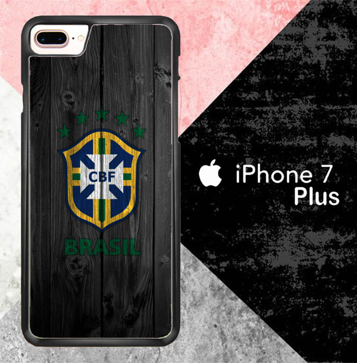 Brazil Logo Wood J0563 iPhone 7 Plus Case New Year Gifts 2020-iPhone 7 Plus Cases-Recovery Case
