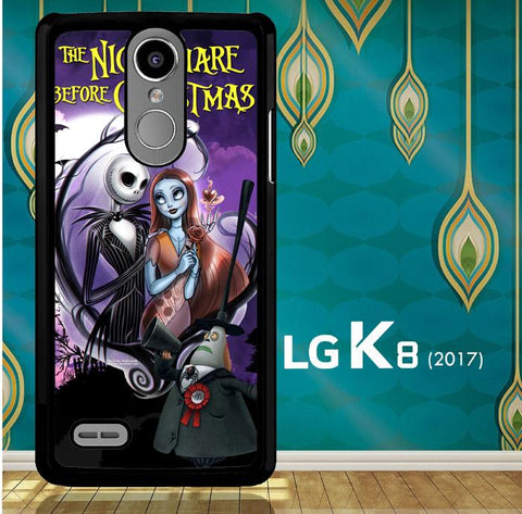 Jack And Sally Muertitos The Nightmare Before Christmas C0092 LG K8 2017 / LG Aristo / LG Risio 2 / LG Fortune / LG Phoenix 3  Cover Cases