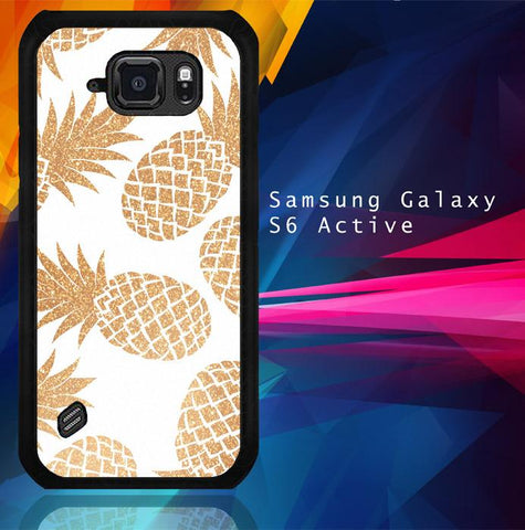 Gold Pineapple E1460 Samsung Galaxy S6 Active  Cover Cases