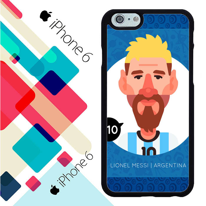 lionel messi cartoon iPhone 6 | 6S Case New Year Gifts 2020-iPhone 6 | 6S Cases-Recovery Case