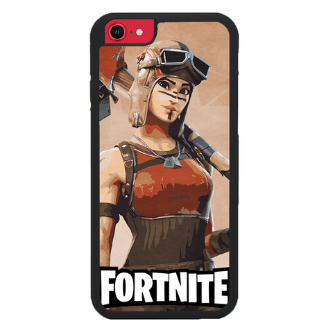 Fortnite Renegade P0378 iPhone SE 2nd Generation 2020 Case