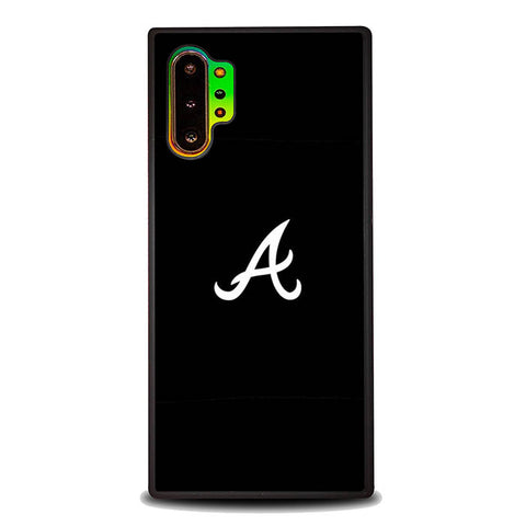 Atlanta braves logo black P1512 Samsung Galaxy Note 10 Plus Cover Cases