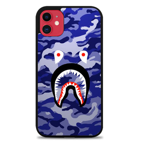 Bape Shark Purple Camo P1958 iPhone 11 Case