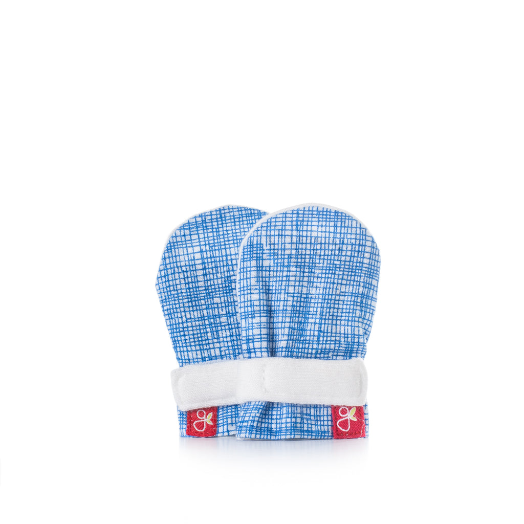 Goumi Preemie Mitts - Sketch Blue