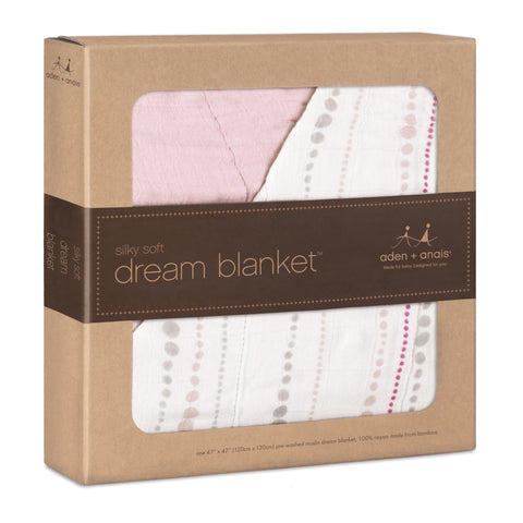 Aden and Anais Bamboo Dream Blanket (Tranquility Beads - Rose)