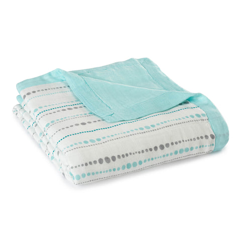 Aden and Anais Bamboo Dream Blanket (Azure Beads - Aqua)