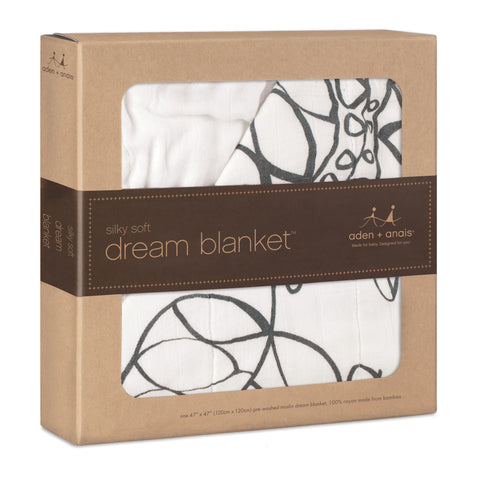 Aden and Anais Bamboo Dream Blanket (Moonlight Leafy)