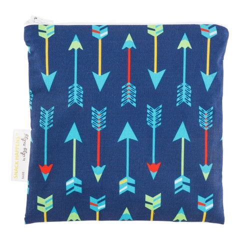 Itzy Ritzy Reusable Snack Happens Bag - Bold Arrow