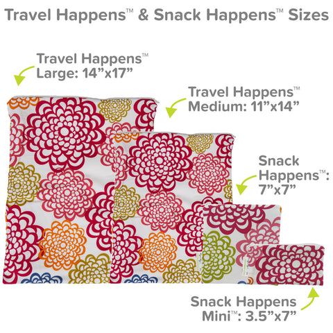 Itzy Ritzy Reusable Snack Happens Bag - Fresh Bloom