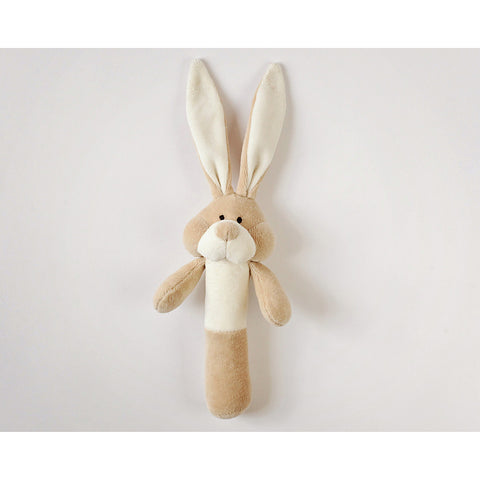 Wooly Organic Soft Bunny Rattle