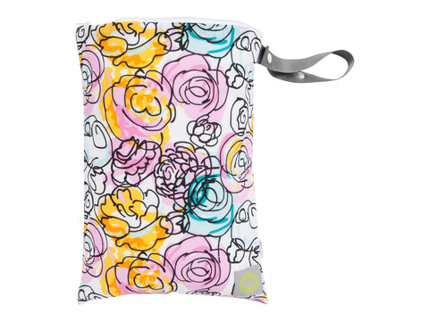 Itzy Ritzy Sealed Wet Bag - Watercolour Bloom