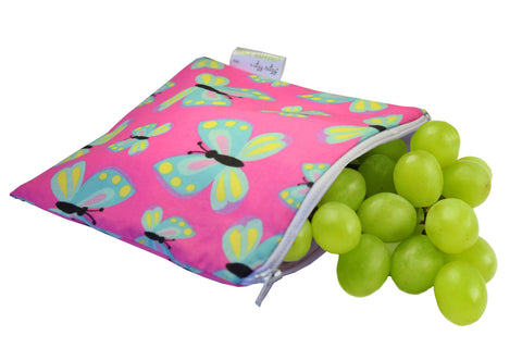 Itzy Ritzy Reusable Snack Happens Bag - Social Butterfly