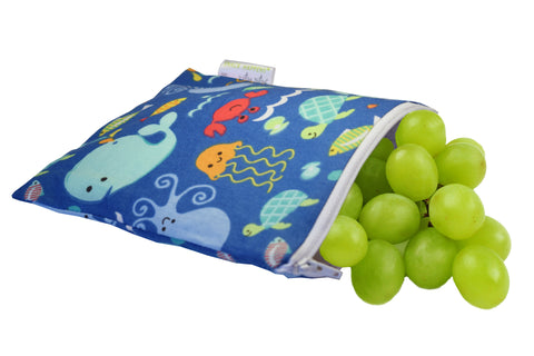 Itzy Ritzy Reusable Snack Happens Bag - Under The Sea