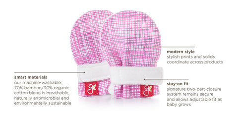 Goumi Preemie Mitts - Diamond Dots Cream