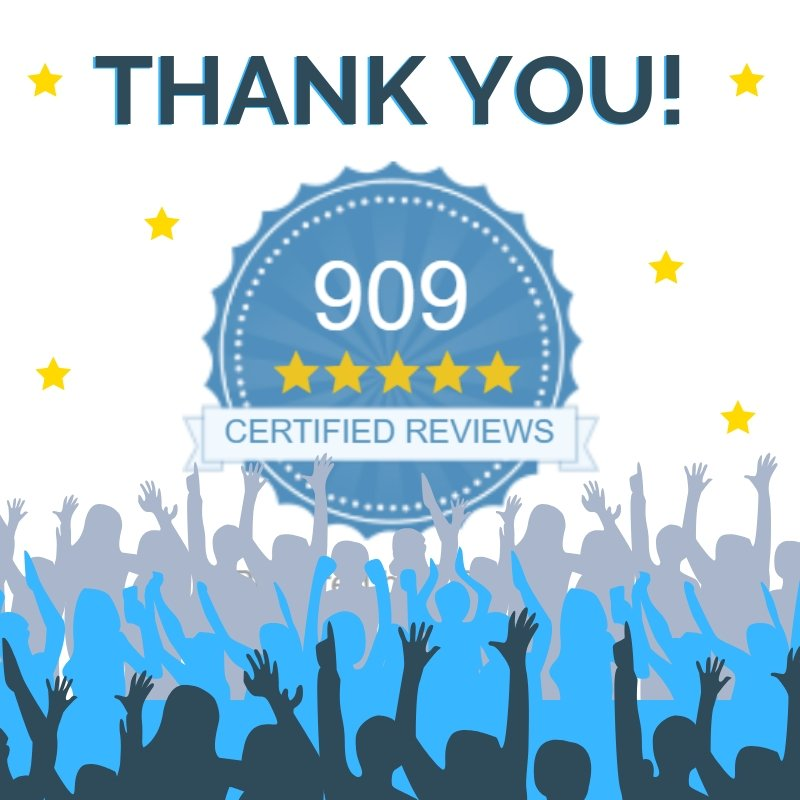 900+ Certified Reviews! Thank you to all our customers. | Putnams