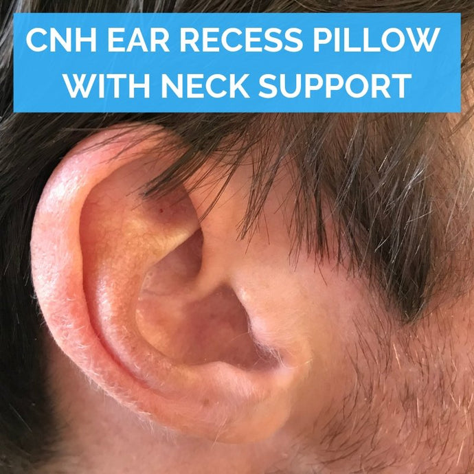 Chondrodermatitis nodularis chronica helicis (CNH) ear recess pillow with neck support