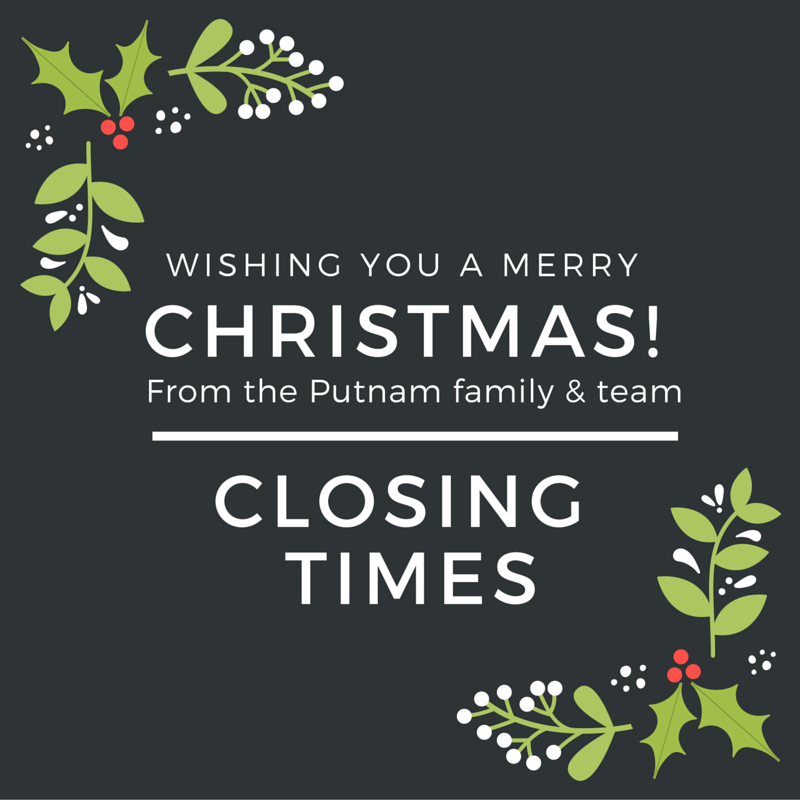 Christmas Closing Times | Putnams