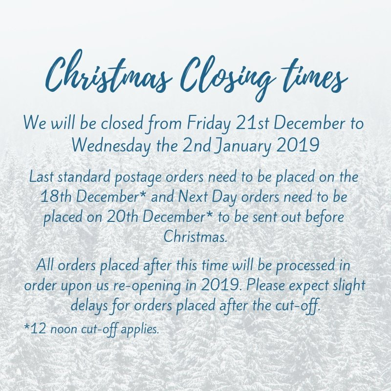 Christmas Closing Times & Delivery Cut-Offs | Putnams