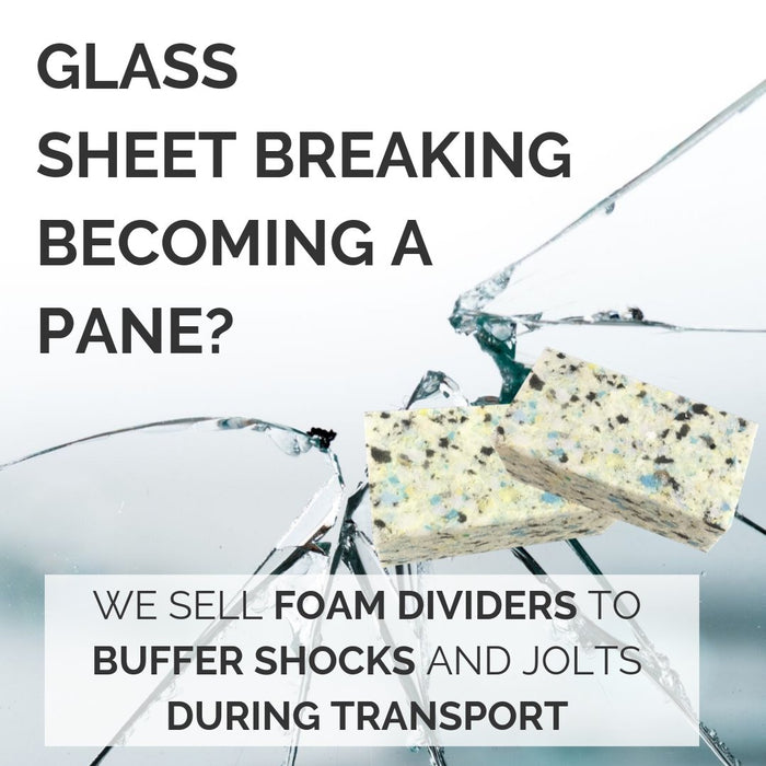 Foam Pads to Protect Cut Glass Sheets UK Supplier | Putnams