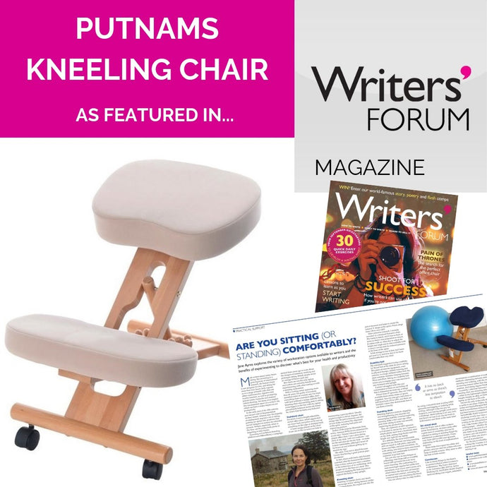 Putnam Kneeling Chair Recommended by Writers Forum Magazine for sitting For Long Periods of Time