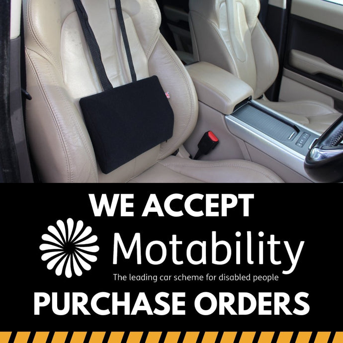We Accept Motability Purchase Orders for Wedges, Cushions & Back-rests