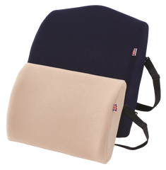 compact large back rest lumbar support back pain