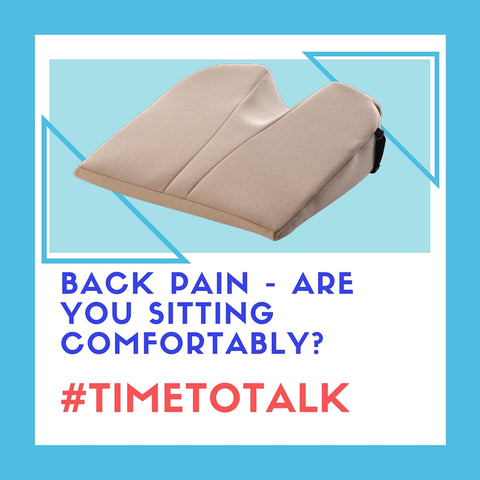 sitting time to talk wedge office cushion back neck pain