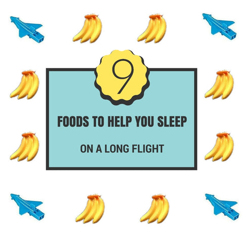 foods to help you sleep on a plane airplane train car travel long journey