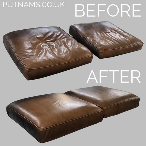 leather sofa cushion refilling back pain getting up hard easier how to stand