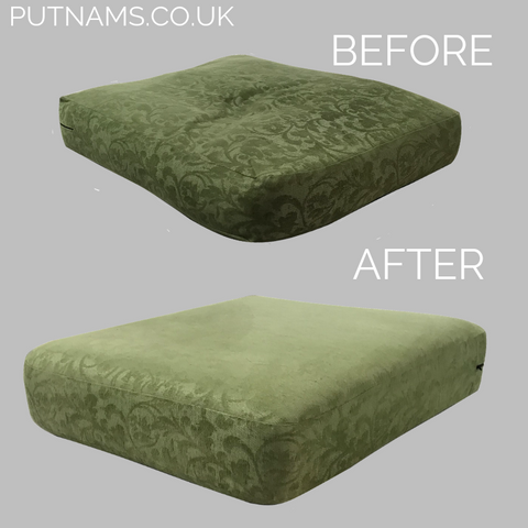 sofa cushion before and after foam fibre feather uk