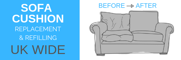 sofa cushion replacement Devon Plymouth Cornwall Plympton Kingsbridge