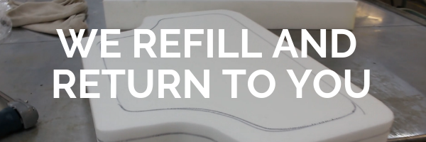 Refill sofa cushions foam how to cut British foam fire standards insurance