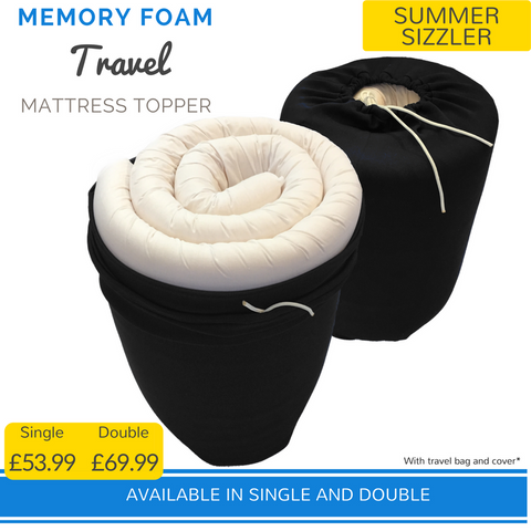 travel memory foam topper comfort campervan duvalay camping motor home boat holiday home