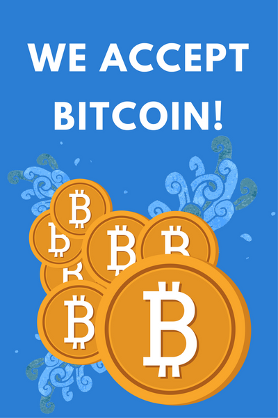we now accept bitcoin payments on our website!
