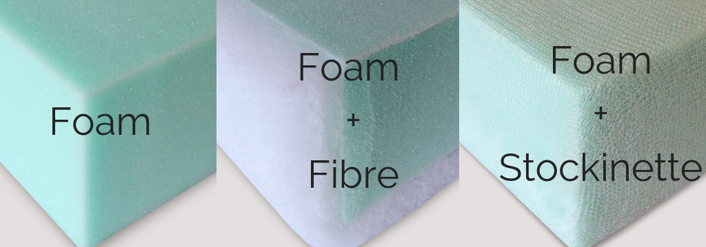 what is fibre and stockinette dacron sofa cushions foam
