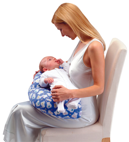 baby feeding inflatable cushion blue pink travel compact back pain
