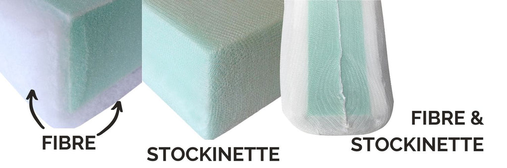 what is fibre and stockinette sofa cushions