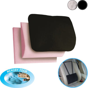 Duo Car Back Support Cushion Memory Foam