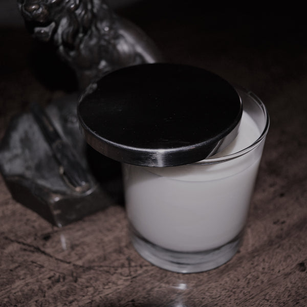 white fig glass candle