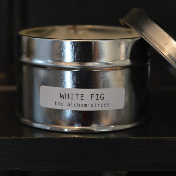 White Fig Tin Candle