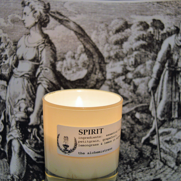 Spirit white candle