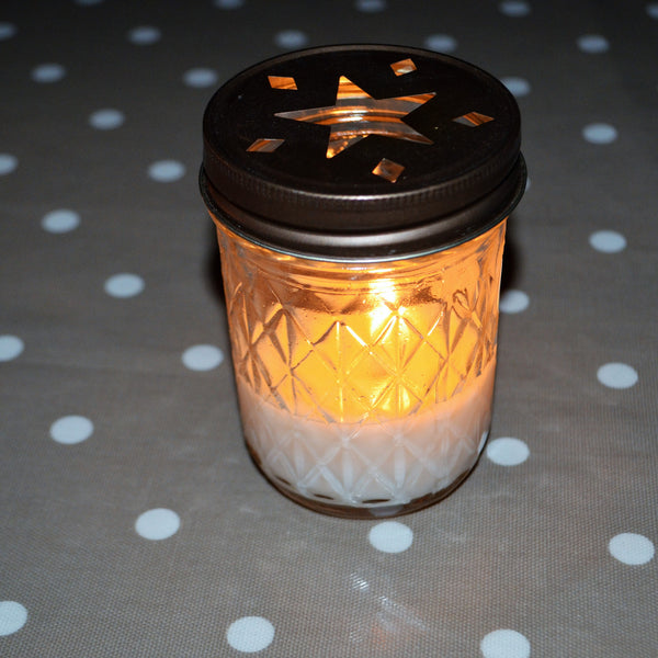 Winter Spice Quilted Candle
