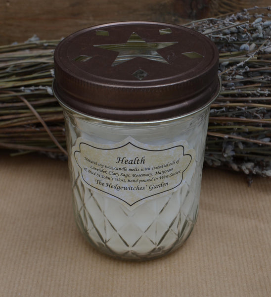 The Hedgewitches Garden (Health) Quilted Candle
