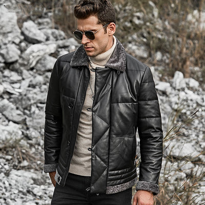 Leather Down Jacket Darius
