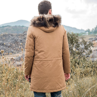 Parka with Removable Raccoon Fur