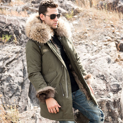 Parka with Removable Rabbit Fur